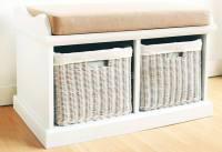 Statement Furniture - Tetbury White Bench with Seat ...