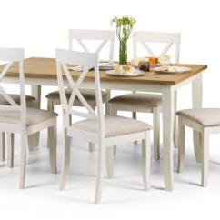 Light Oak Dining Chairs Childrens Wicker Uk Julian Bowen Davenport Sets Table Top Ivory Country House Collection
