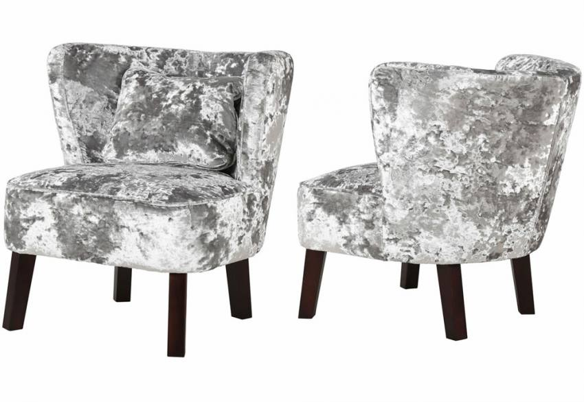 crushed velvet chair cheap baby high chairs xyz marle occasional dark or light legs effect