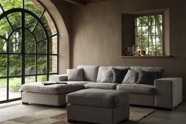 Loungebank in landelijke stijl Stoffen loungebanken van