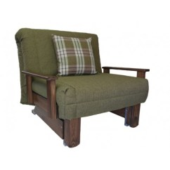 Wooden Futon Chairs Best Office For Back Support Kensington Single Chair Bed | Wood Stain Colours Sofabedbarn.co.uk