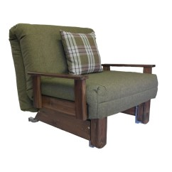 Chair Bed With Arms Uk Gold Polyester Covers Kensington Single Wood Stain Colours Sofabedbarn Co