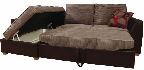 brown and beige corner sofa t cushion slipcovers for large sofas lincoln bed with storage | buy online