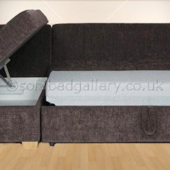 Sofa Bed Made In Uk Very Shallow Penthouse Corner Sofabed With Storage | L Shaped