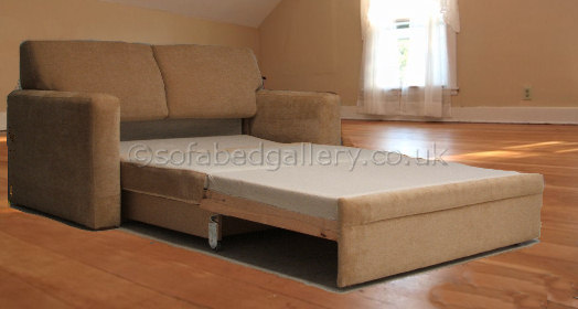 2 seater sofa bed with chaise and sleeper platinum slide out | sofabed gallery