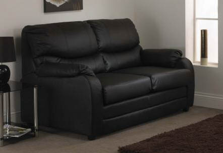 sofa bed black faux leather klippan two seat cover hessle