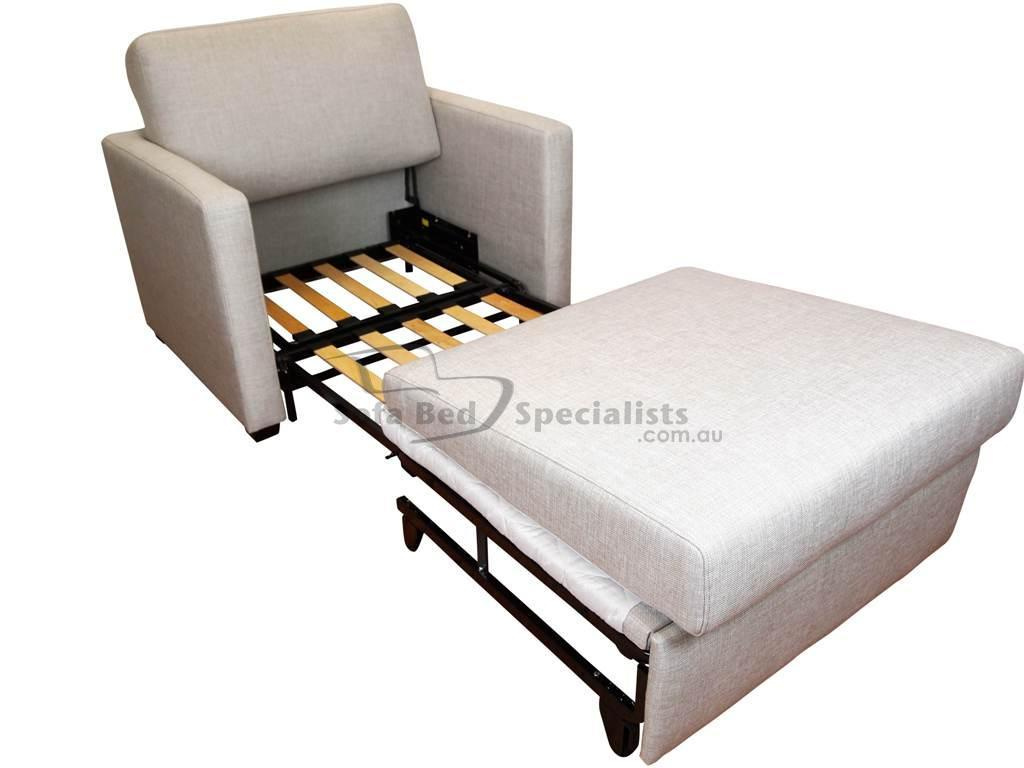Chair Sofabed With Timber Slats  Sofa Bed Specialists