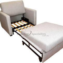 Wheelchair Bed Curtis Dark Brown Leather Recliner Club Chair Sofabed With Timber Slats Sofa Specialists