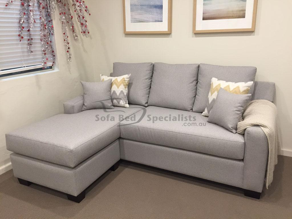 square sofa beds bed set philippines mosman round arm with reversible chaise sofabed or