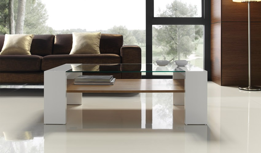 Mesa de Centro Moderna con Cristal