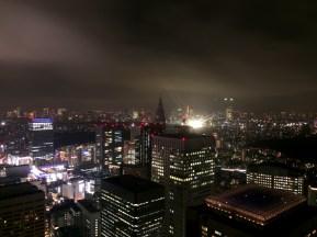 Ausblick bei Nacht aus dem 44. Stock des Gebäudes der Metropolregierung Tokyos