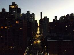 Foto aus der Tram über der 2nd Avenue