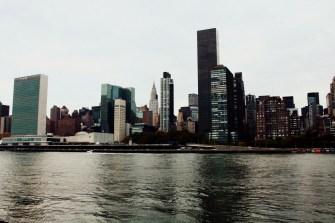 Skyline mit dem Headquater der Vereinten Nationen