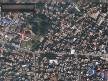 Bottom right: my home. Upper left: the Embassy area