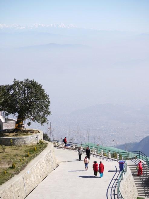 Und der tolle Blick Richtung Kathmandu