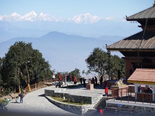 Ausblick hinter dem Tempel