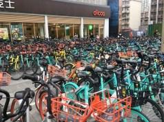 Einer von tausenden Fahrradsammelplätzen