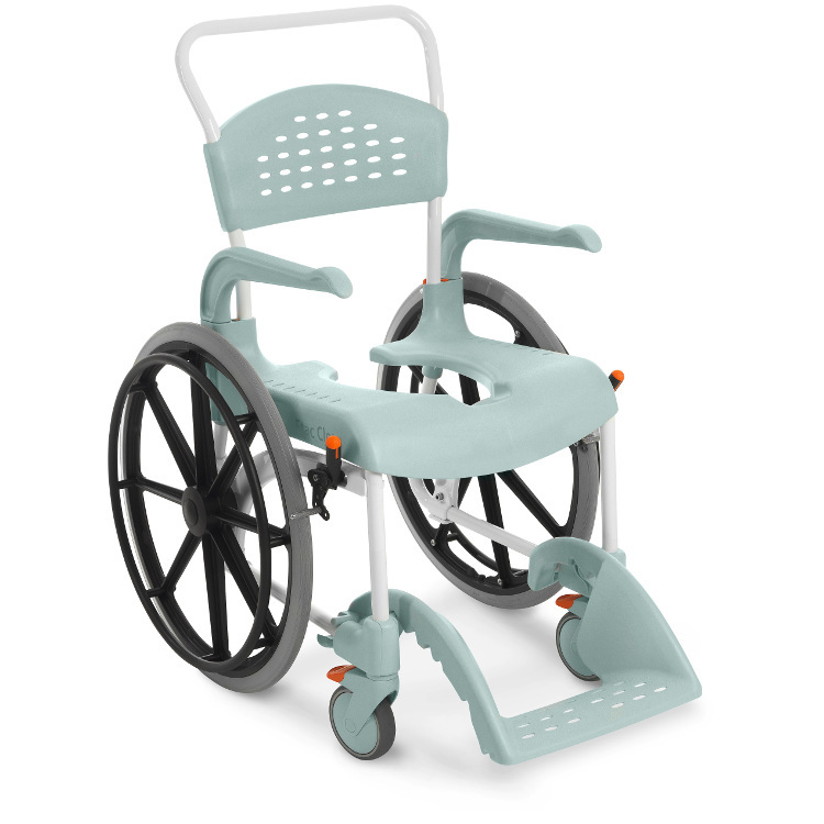 fauteuil de douche clean grandes roues