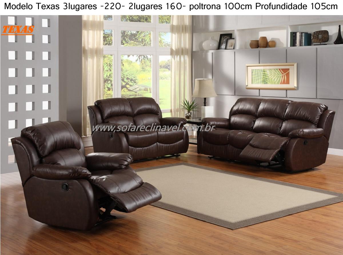Sofa Chaise Retratil E Encosto Reclinavel