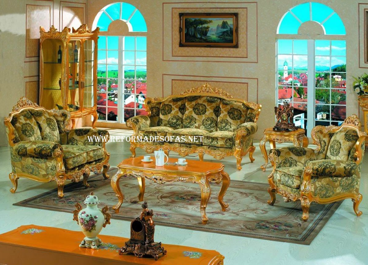 colonial sofa sets full width double bed reforma de sofá madeira luis xv em são paulo