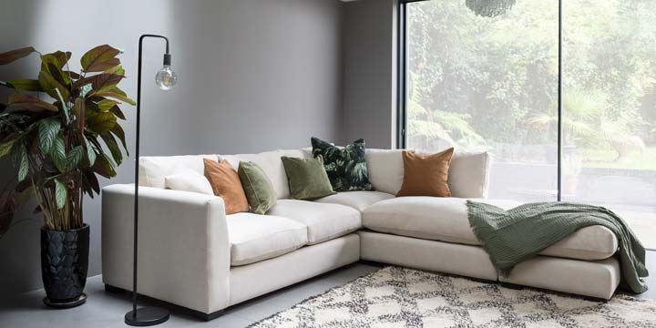 duck feather corner sofa wooden for living room wadenhoe