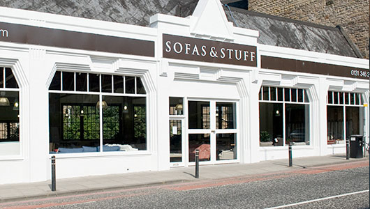 sofa stores edinburgh clic set sofas bespoke british and handmade stuff store outside