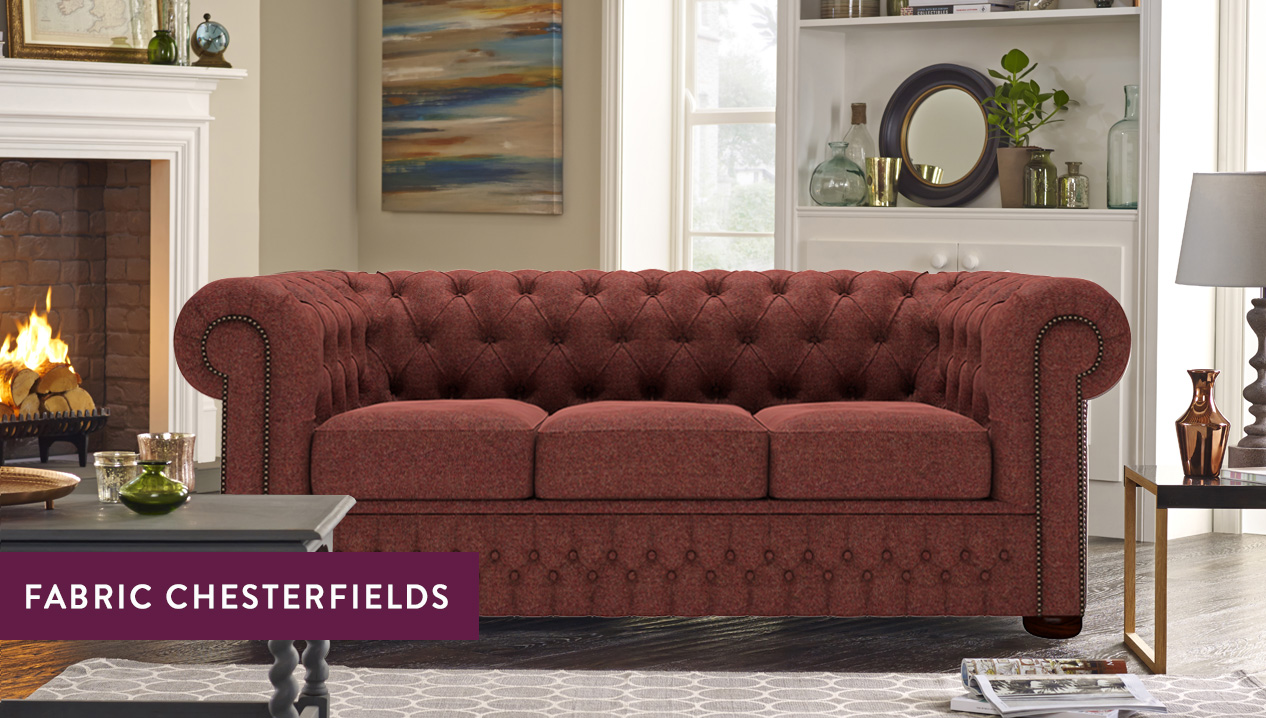 Fabric Chesterfield Sofas  Luxury Tufted Styles  Sofas