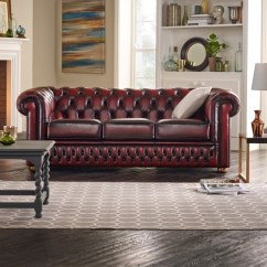 Cleaning Leather Sofa Cushions Target Covers Buy A 3 Seater Chesterfield At Sofas By Saxon