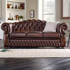 Chesterfield Leather Sofa For Sale Simmons Sectional Oxford 3 Seater - From Sofas By Saxon Uk