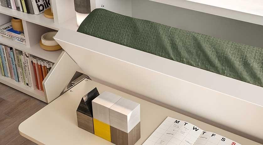 Mueble cama de 90 con mesa delante  Sofas Cama Cruces