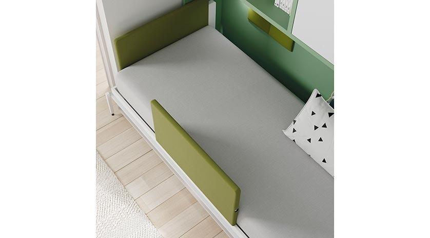 Mueble cama abatible con mesa delante y armarios arriba  Sofas Cama Cruces