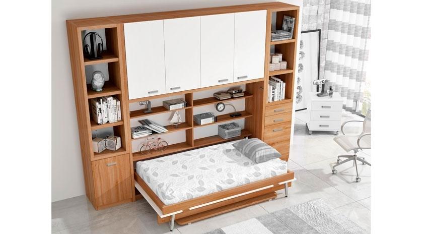 Mueble cama de matrimonio con armario encima  Sofas Cama