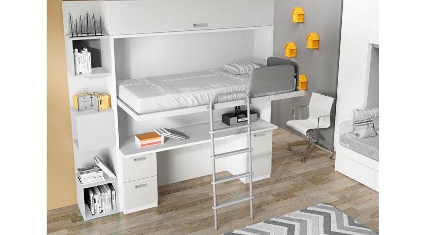 Mueble cama abatible arriba y mesa fija abajo  Sofas Cama Cruces