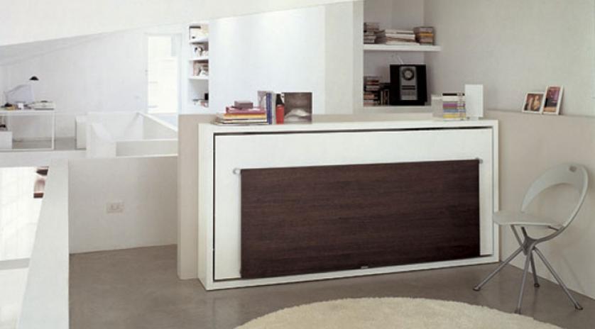 Mueble cama abatible individual con mesa abatible  Sofas Cama Cruces