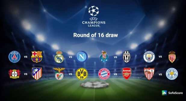Image result for images of uefa champions league round of 16 draw 2016-2017