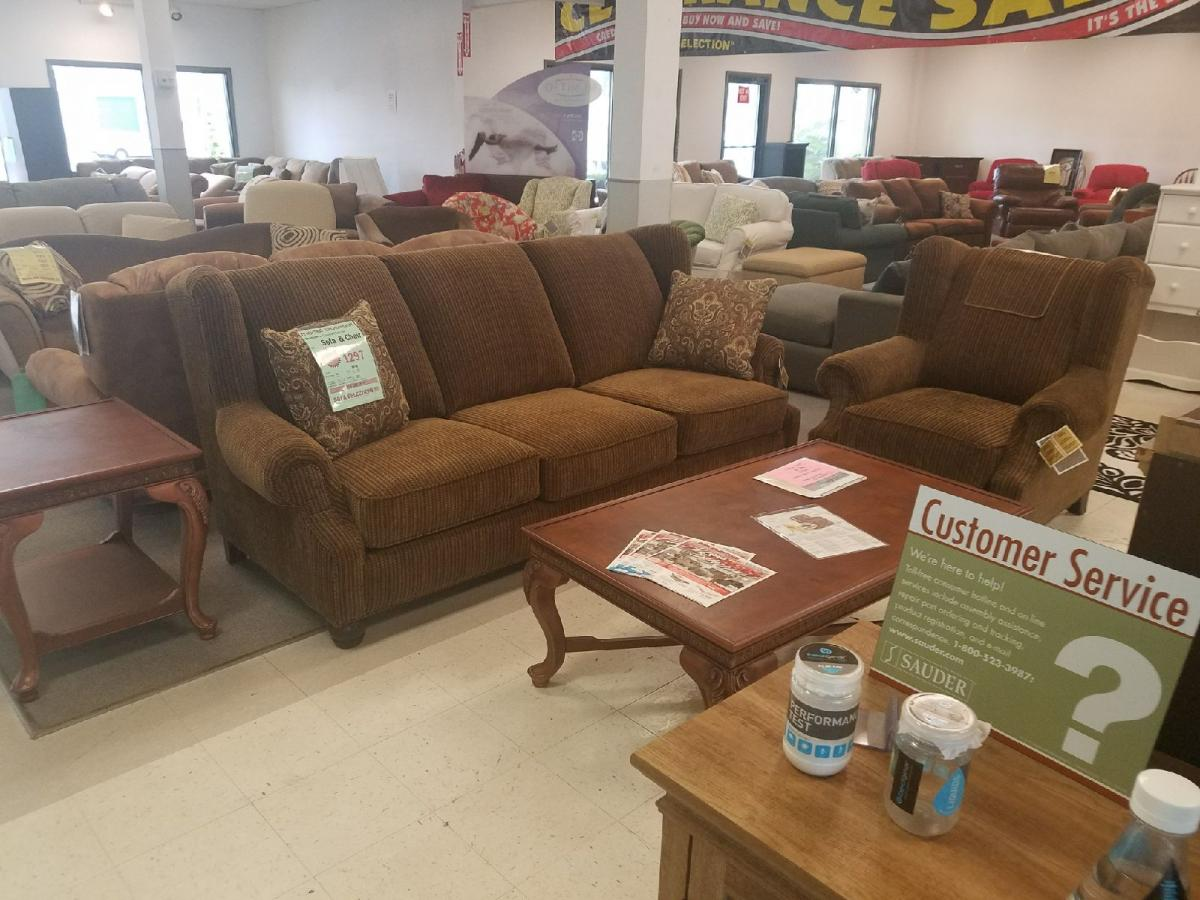 colonial sofa sets crushed velvet furniture village clayton marcus selections the soft comfortable muli ticking brown fabric and plush cushioning make this a great set to relax in but still have style that is focus of room