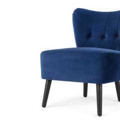 High Back Velvet Chair Uk Plush Toddler Chairs Charley Accent Electric Blue  Sofas Etc