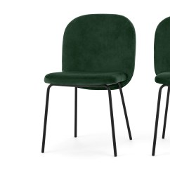 Grey Crushed Velvet Chair Covers Replacement Graco High Cover 2 X Safia Dining Chairs Pine Green  Sofas Etc