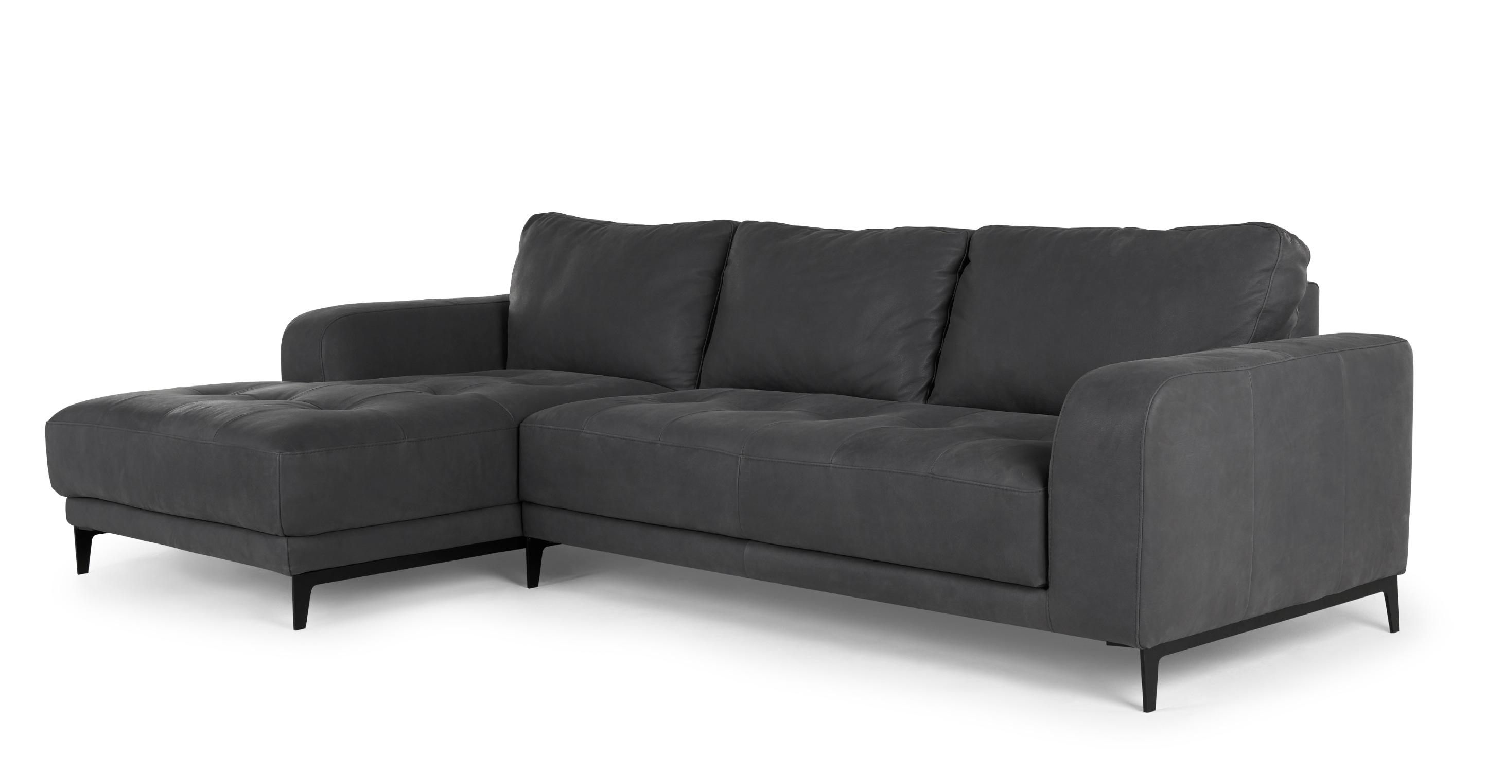 grey leather corner sofa uk extra firm sectional luciano left hand facing  sofas etc