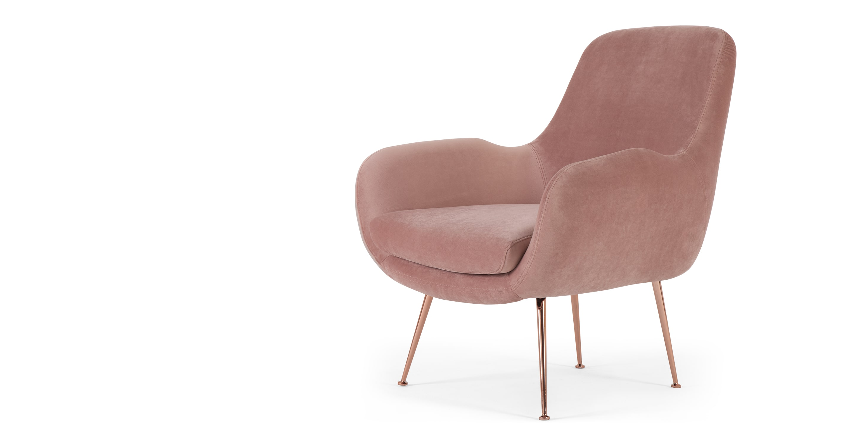 high back velvet chair uk office desk chairs moby accent vintage pink  sofas etc
