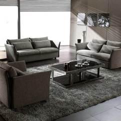 Contemporary Fabric Sofas 5 Piece Sectional Grey Modern Sofa Set Vg Vip