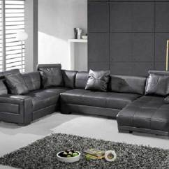 Leather Sectional Sofas European Sleeper Sofa With Storage Omega Modern Black Sectionals