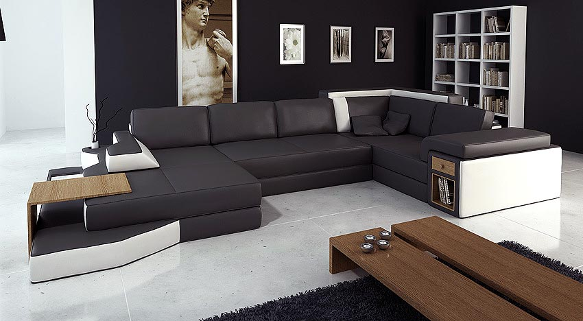 sectional sofa purchase clack bed leather black white 14 sectionals
