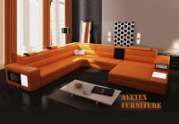 Rexona Orange leather sofa | Sectionals