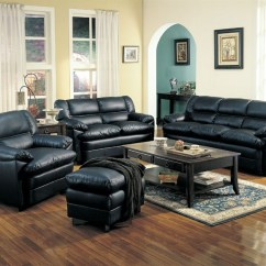 Black Leather Living Room Behr Neutral Paint Colors For Harper Set In Sofas
