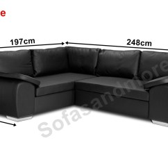 Olympus Black Leather Corner Sofa Bed With Storage Faux Power Reclining New Enzo Grey Jumbo Cord Fabric