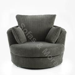 Round Swivel Cuddle Chair Chairs For Affairs Melbourne Fl Large Jumbo Cord Fabric Cream