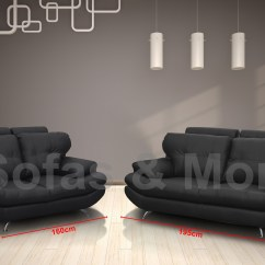 Leather Sofa Manufacturers In Wales Erska Bed Dark Gray Brand New Sandy 3 432 Seater Set Black Faux
