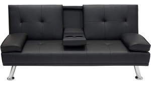 5-–-Modern-Faux-Leather-Futon-300x172 Sofa Beds Sofas On A Budget