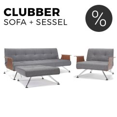 Clubber Sofa Bed Accent Sofas Innovation Schlafsofa Mit Sessel Im Set Sofawunder